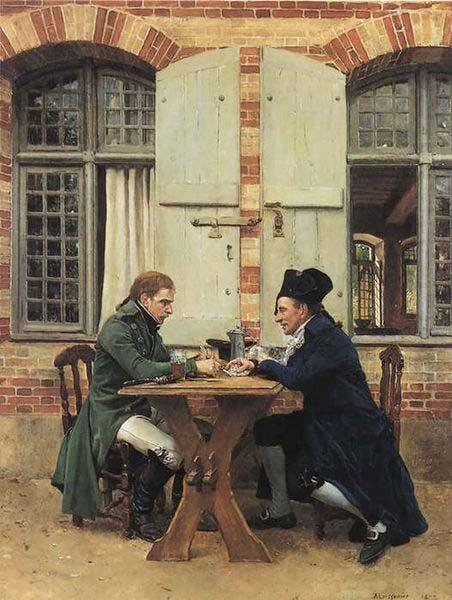 The Card Players,, Jean-Louis-Ernest Meissonier