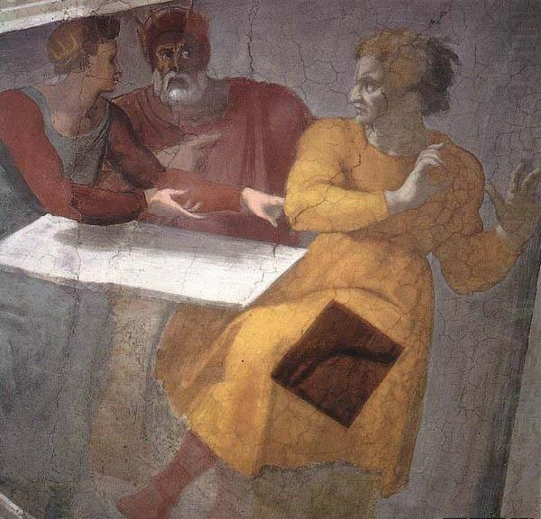 Punishment of Haman, Michelangelo Buonarroti
