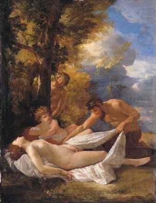 Nymph and satyrs, Nicolas Poussin