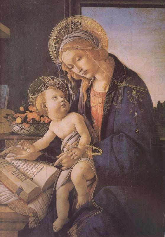 Son of Our Lady of teaching reading, Sandro Botticelli