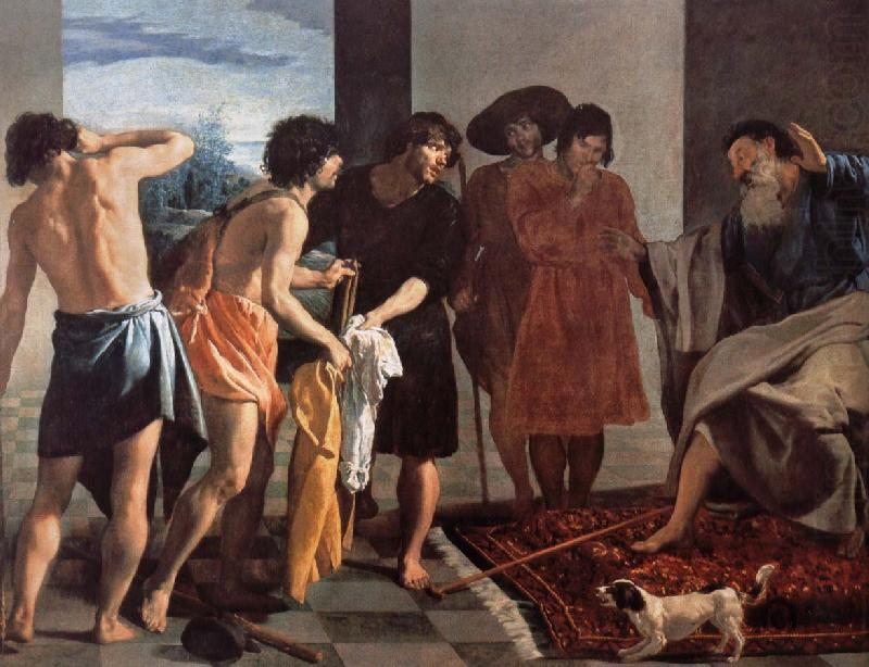 Jacob give Joseph a coat of blood, Velasquez