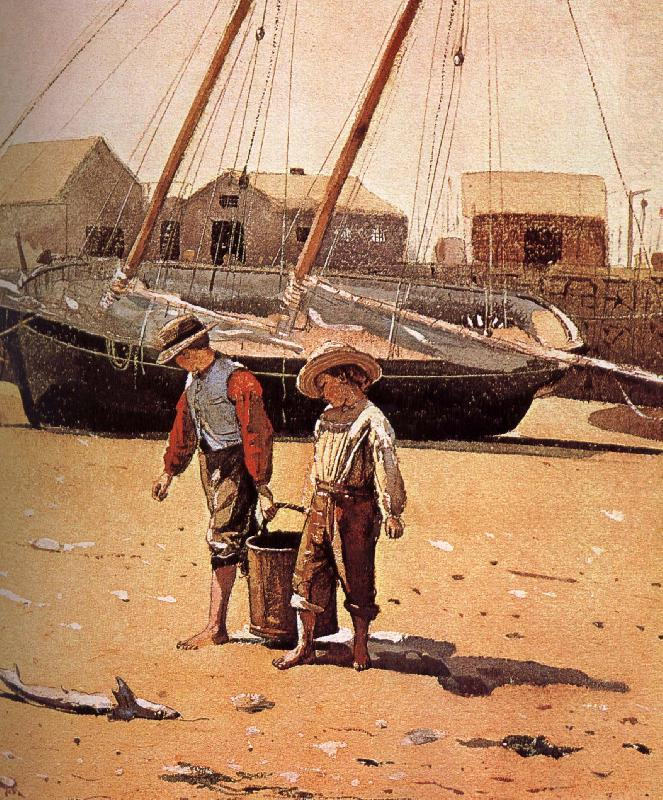 A basket of clams, Winslow Homer