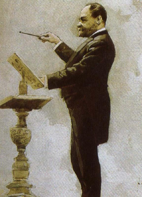 dvorak conducting at the chicago world fair in 1893, johannes brahms