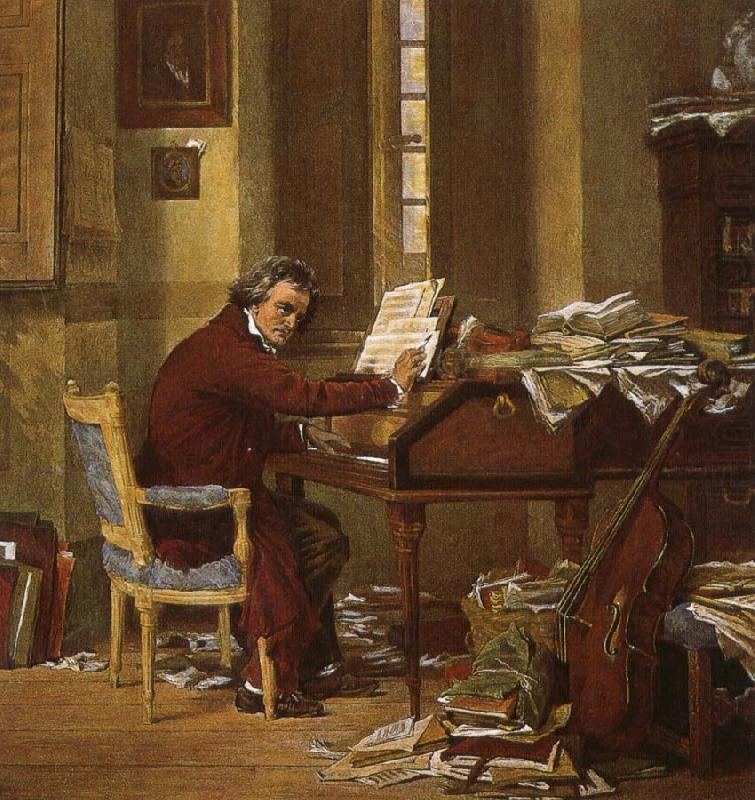 A 19th century artists created the impression that Beethoven County, robert schumann