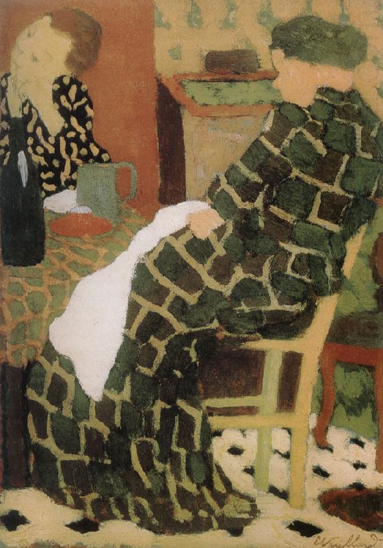 Table of the mother and daughter, Edouard Vuillard