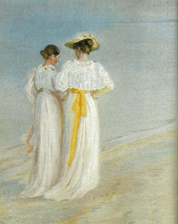sommeraften pa skagen sonderstrand, anna ancher og marie kroyer Michael Ancher Wholesale Oil ...