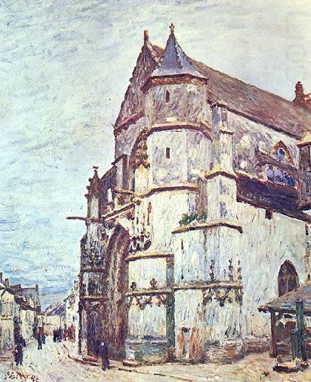Church at Moret after the Rain, Alfred Sisley