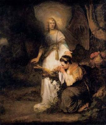 Hagar and the Angel, Carel fabritius