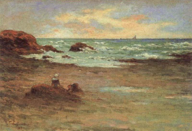 Corner of a Beach at Concarneau, Emile Schuffenecker