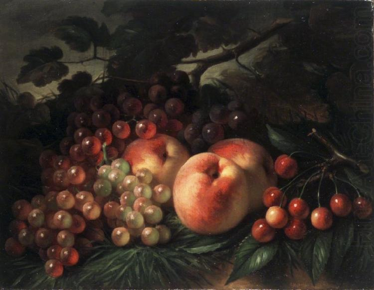 Peaches Grapes and Cherries, George Henry Hall
