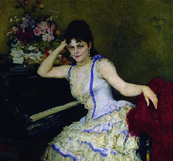 Portrait of pianist and professor of Saint-Petersburg Conservatory Sophie Menter., Ilya Yefimovich Repin