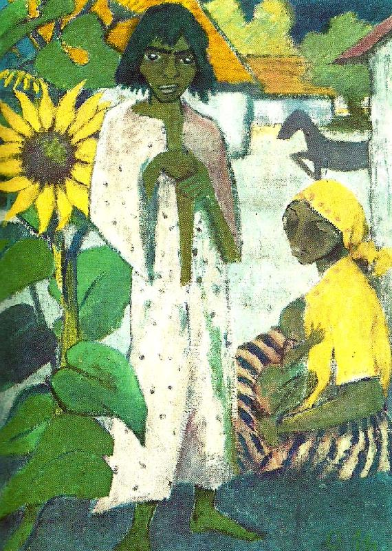 zigenare med solrosor, Otto Mueller