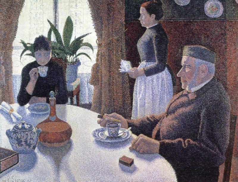the dining room opus 152, Paul Signac