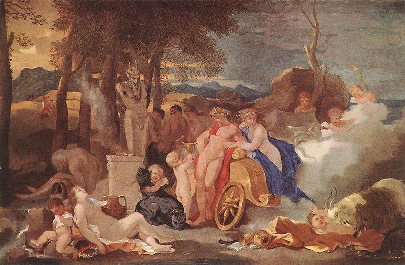 Bacchus and Ceres with Nymphs and Satyrs, Sebastien Bourdon