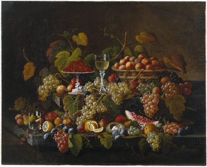 Still Life with Fruit, Severin Roesen