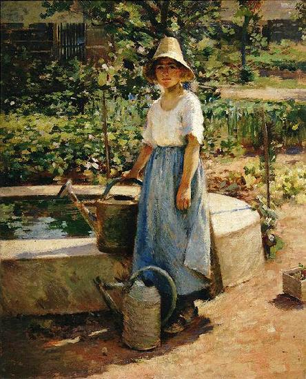 At the Fountain, Theodore Robinson