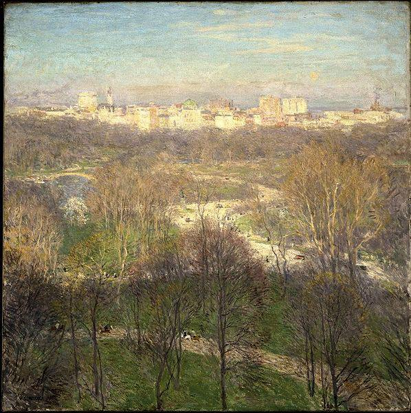 Early Spring Afternoon--Central Park, Willard Leroy Metcalf