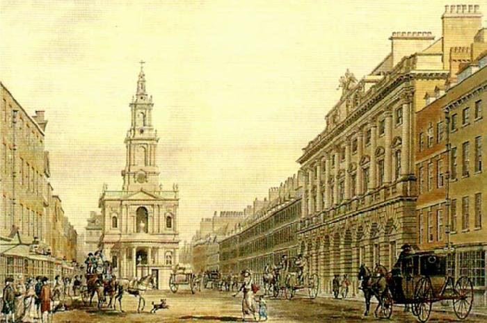 the strand with somerset house, thomas malton