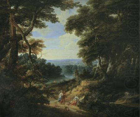 Landscape with a castle and figures, unknow artist