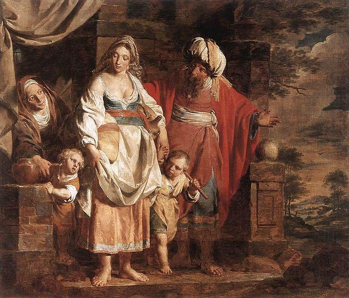 Hagar and Ishmael Banished by Abraham, unknow artist