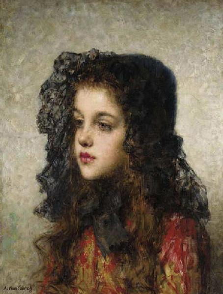 Little Girl with Veil, Alexei Harlamov