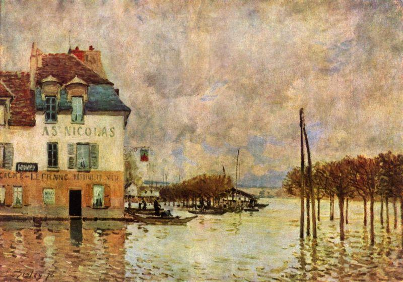 L Inondation a Port Marly, Alfred Sisley