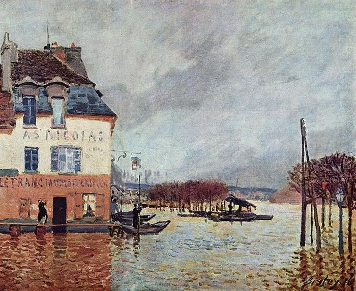 L inondation Port Marly, Alfred Sisley