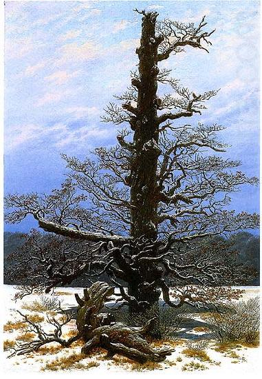 Oak Tree in the Snow, Caspar David Friedrich