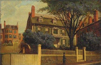The Hancock House, oil painting by Charles Furneaux, Charles Furneaux