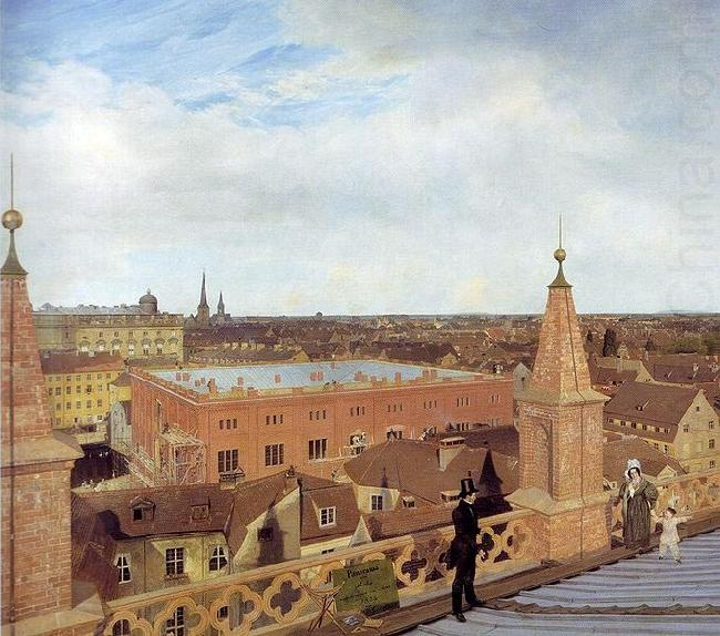 Panorama of Berlin., Eduard Gaertner