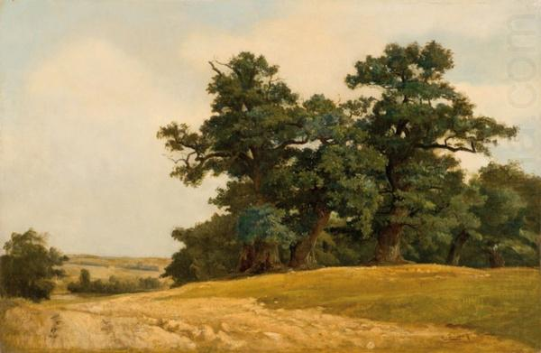 Landscape with oaks, Eugen Ducker
