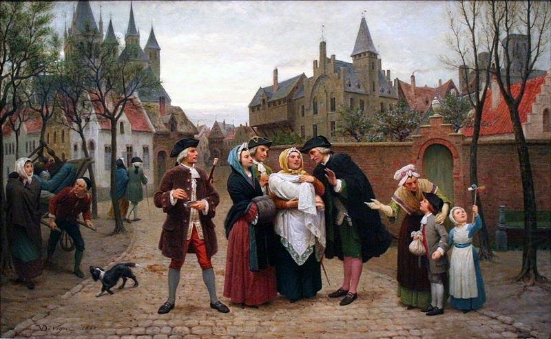 A Baptism in Flanders in the 18th Century, Felix de Vigne