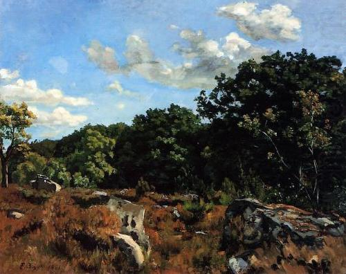 Landscape at Chailly, Frederic Bazille