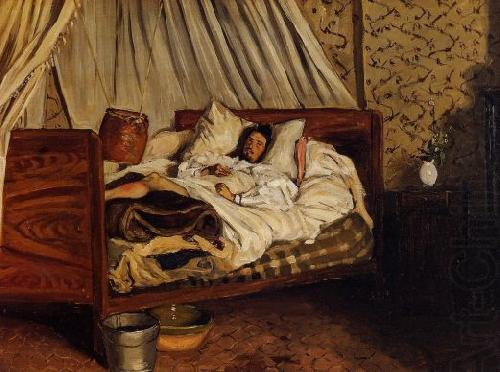 Monet after His Accident at the Inn of Chailly, Frederic Bazille