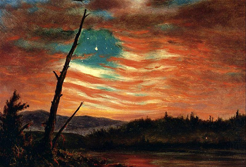 Our banner in the sky frederick edwin church wholesale oil for Frederick church paintings