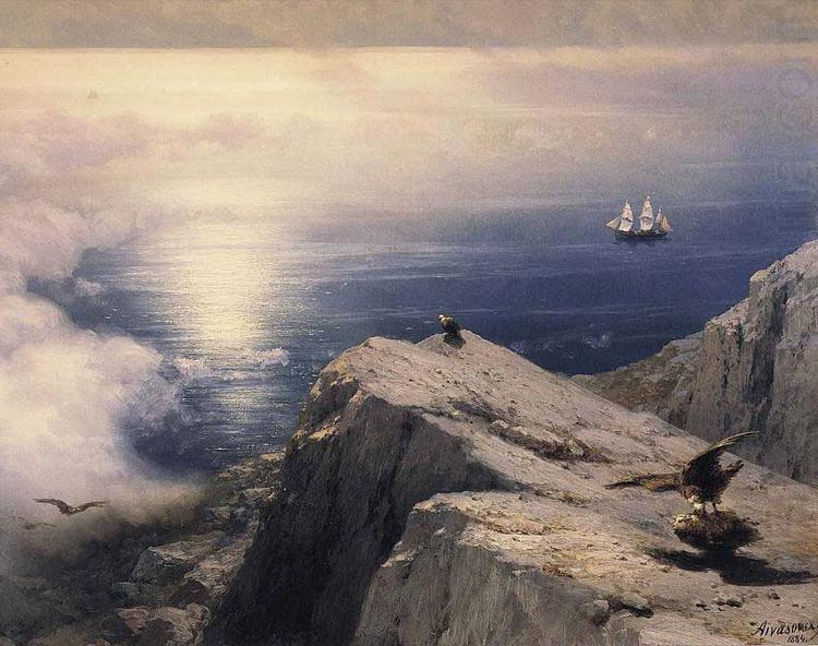 A Rocky Coastal Landscape in the Aegean with Ships in the Distance, Ivan Aivazovsky