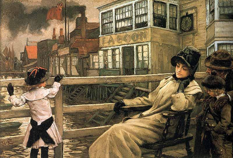Waiting for the Ferry, James Tissot