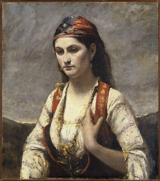 Young Woman of Albano, Jean-Baptiste Camille Corot