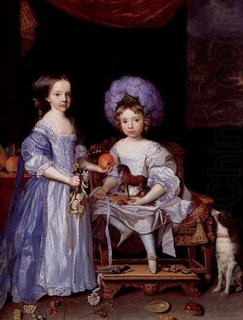 Painting by John Michael Wright of Catherine Cecil and James Cecil,, John Michael Wright