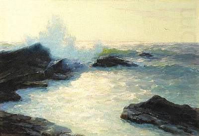Crashing Sea, oil painting by Lionel Walden,, Lionel Walden
