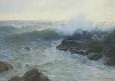 Crashing Surf, oil painting by Lionel Walden, Lionel Walden