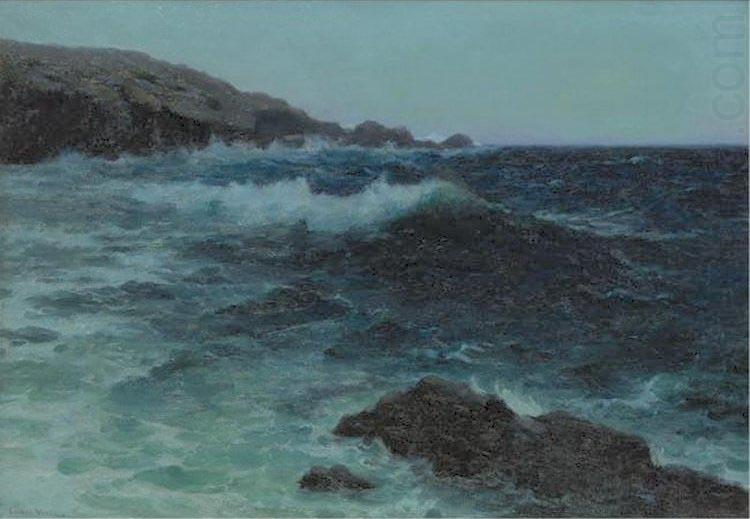 Hawaiian Coastline, oil painting by Lionel Walden, Lionel Walden