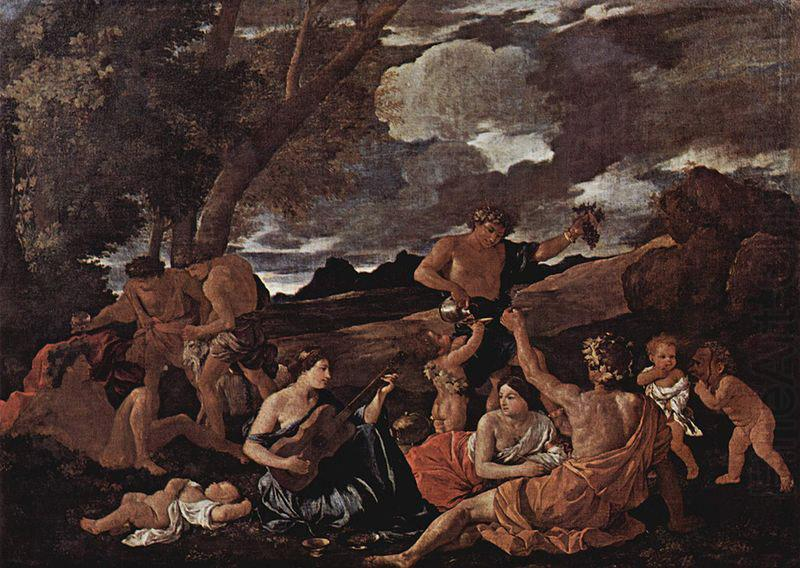 Bacchanal with a Lute-Player, Nicolas Poussin