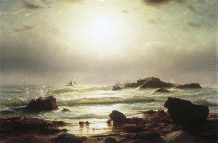 Sail Boats Off a Rocky Coast, William Stanley Haseltine