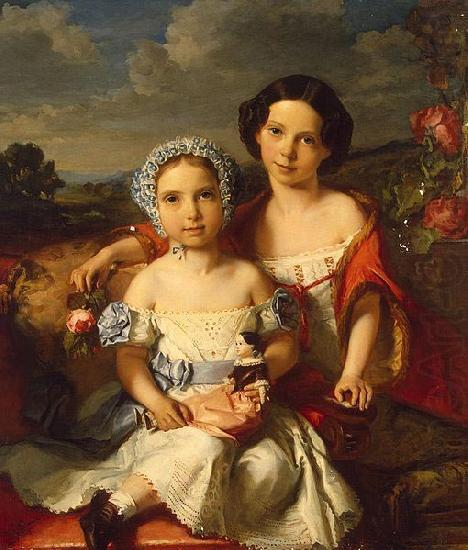 Portrait of Two Children, unknow artist
