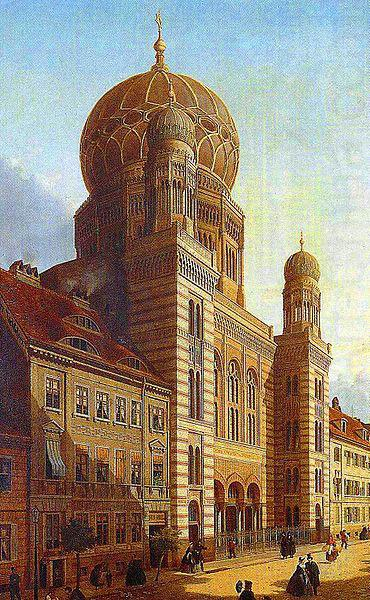 Berlin-Synagoge in der Oranienburger Strabe, unknow artist