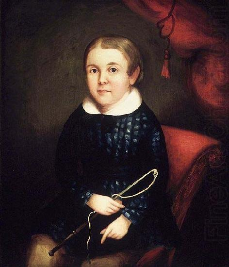 Portrait of a Child of the Harmon Family, unknow artist