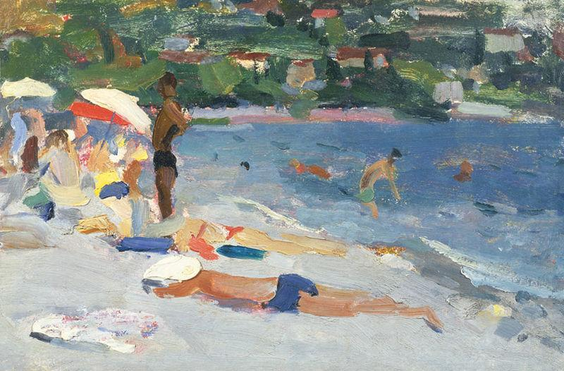A Beach in Evpatoria, unknow artist