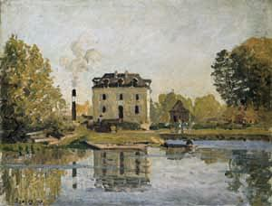Factory on the banks of the Seine. Bougival, Alfred Sisley