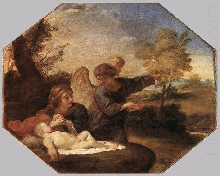 Hagar and Ishmael in the Wilderness, Andrea Sacchi